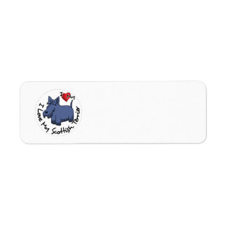 I Love My Scottish Terrier Dog Return Address Label