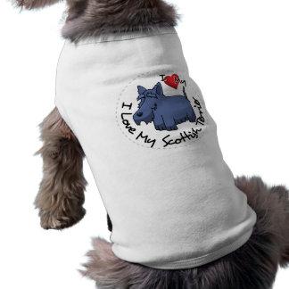 I Love My Scottish Terrier Dog Shirt