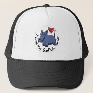 I Love My Scottish Terrier Dog Trucker Hat