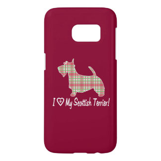 I Love My Scottish Terrier with Paw Print Heart Samsung Galaxy S7 Case