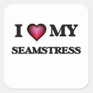 I love my Seamstress Square Sticker