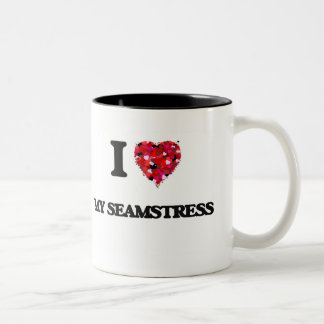 I Love My Seamstress Two-Tone Coffee Mug