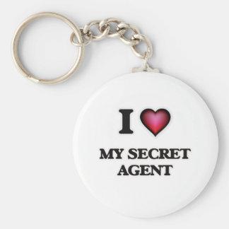 I Love My Secret Agent Keychain