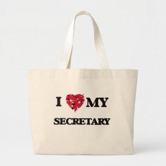 I love my Secretary Jumbo Tote Bag