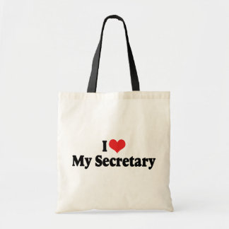I Love My Secretary Tote Bag