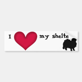I love my shelter cat bumper sticker
