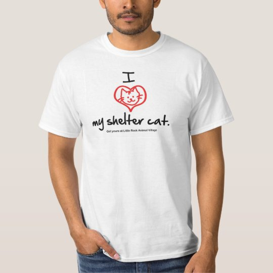 I Love My Shelter Cat T-shirt