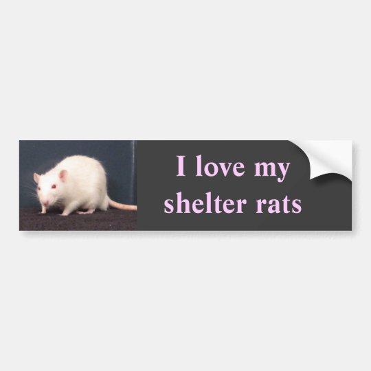 I love my shelter rats bumper sticker