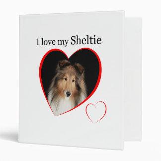 I Love my Sheltie #1 3 Ring Binders