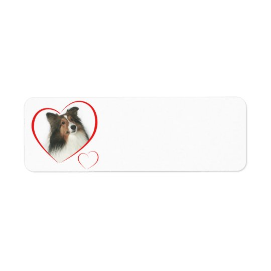 I Love my Sheltie #2 Return Address Label