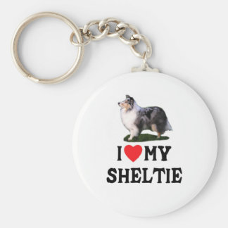 I Love My Sheltie Keychain