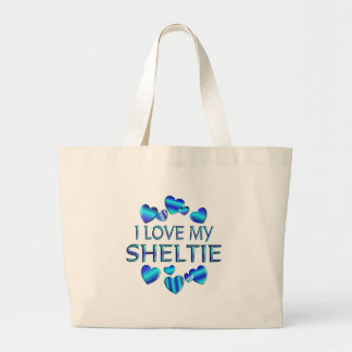 I Love My Sheltie Large Tote Bag