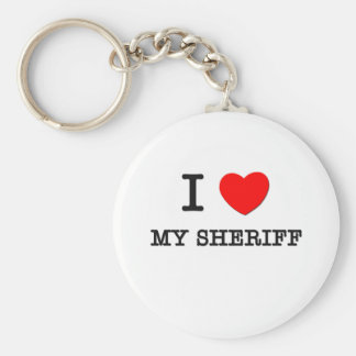 I Love My Sheriff Keychain
