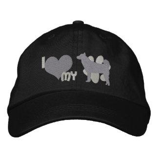 I Love my Shiba Inu Monochrome Embroidered Hat