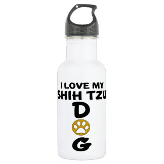 I Love My Shih Tzu Dog Designs 532 Ml Water Bottle