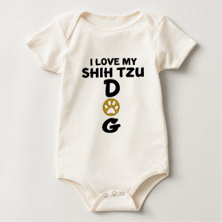 I Love My Shih Tzu Dog Designs Baby Bodysuit