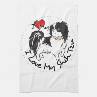 I Love My Shih Tzu Dog Kitchen Towel