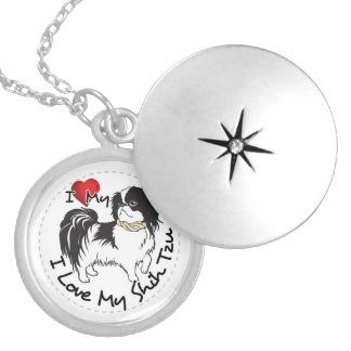 I Love My Shih Tzu Dog Silver Plated Necklace
