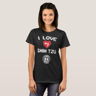 I love my Shih Tzu Face Graphic Art T-Shirt