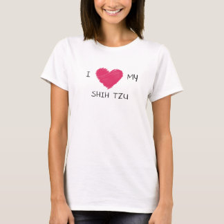 I Love My Shih Tzu Heart T-shirt