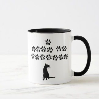 I Love My Siamese--Black Text Mug