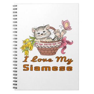 I Love My Siamese Notebooks