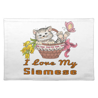 I Love My Siamese Placemat