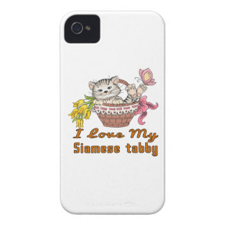 I Love My Siamese tabby Case-Mate iPhone 4 Cases
