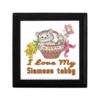 I Love My Siamese tabby Gift Box