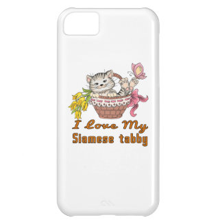 I Love My Siamese tabby iPhone 5C Cover
