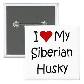 I Love My Siberian Husky Dog Breed Lover Gifts Pins