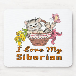I Love My Siberian Mouse Pad