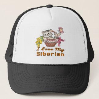I Love My Siberian Trucker Hat