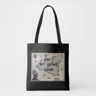 I Love My Sicilian Ancestors   Custom Tote Bag