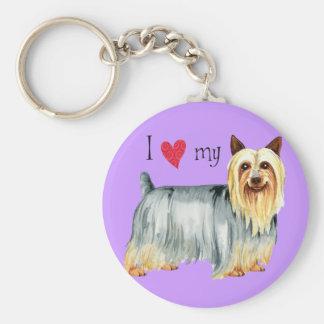 I Love my Silky Terrier Basic Round Button Keychain