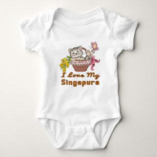 I Love My Singapura Baby Bodysuit