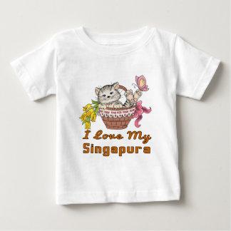 I Love My Singapura Baby T-Shirt