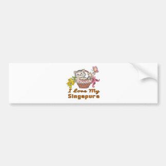 I Love My Singapura Bumper Sticker