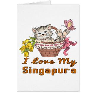I Love My Singapura Card
