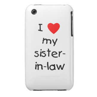 I Love My Sister-in-Law iPhone 3 Cover