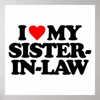 I LOVE MY SISTER-IN-LAW POSTER