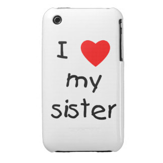 I Love My Sister iPhone 3 Case