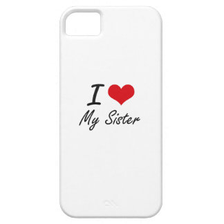 I Love My Sister iPhone 5 Cover