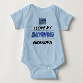 I love my Skydiving Grandpa Baby Bodysuit