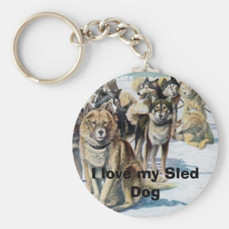I love my Sled Dog Keychain