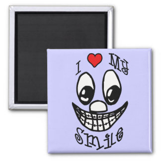 I Love My Smile Square Magnet