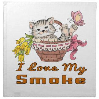 I Love My Smoke Napkin