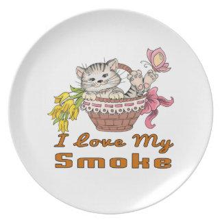 I Love My Smoke Plate