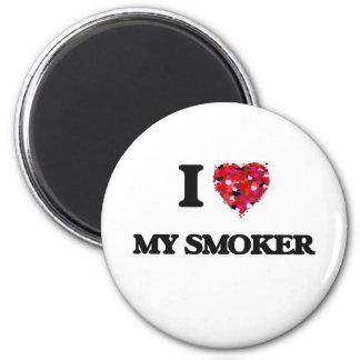 I love My Smoker 2 Inch Round Magnet