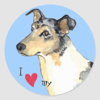 I Love my Smooth Collie Classic Round Sticker
